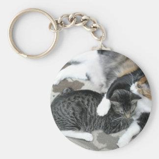 Mia & Gizmo Basic Round Button Key Ring