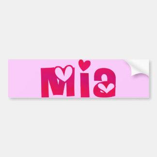 Mia in Hearts Bumper Sticker