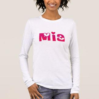 Mia in Hearts Long Sleeve T-Shirt