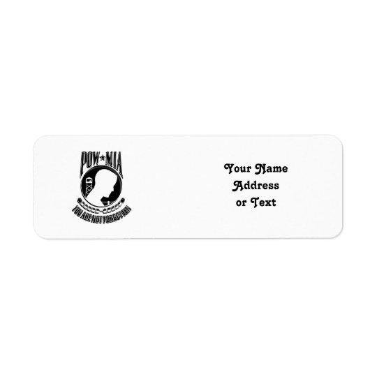 MIA / POW  ~ You Are Not Forgotten Return Address Label