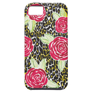 Mia Red Black Roses & Leopard Phone Case
