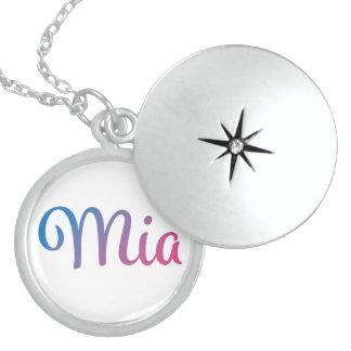 Mia Stylish Cursive Locket Necklace