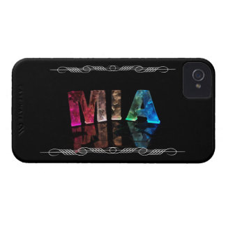 Mia  - The Name Mia in 3D Lights (Photograph) Case-Mate iPhone 4 Cases