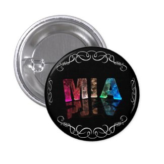 Mia - The Name Mia in 3D Lights (Photograph) Pins