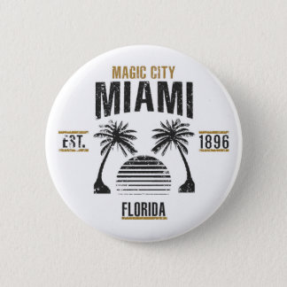 Miami 6 Cm Round Badge