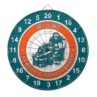 Miami Armchair Quarterback Football Dartboard