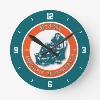 Miami Armchair Quarterback Football Wall Clock