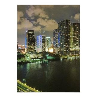 Miami at Night 13 Cm X 18 Cm Invitation Card