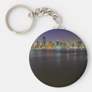 Miami At Night Key Chain
