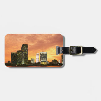Miami at Sunset Bag Tag
