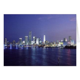 Miami at Twilight Card