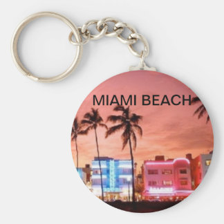 MIAMI BASIC ROUND BUTTON KEY RING