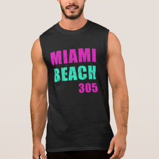 Miami Beach 305 Sleeveless Shirt