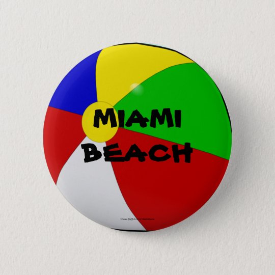 Miami Beach, beach ball button