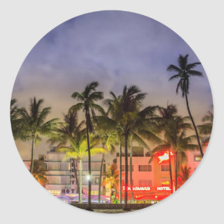 miami beach classic round sticker