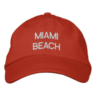MIAMI BEACH EMBROIDERED HAT