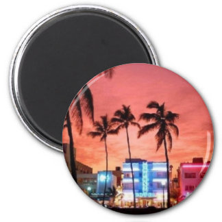 Miami Beach, Florida 6 Cm Round Magnet