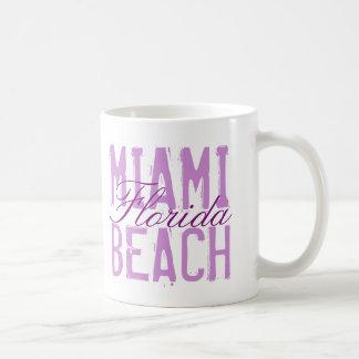 Miami Beach Florida Basic White Mug