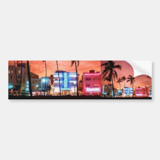Miami Beach, Florida Car Bumper Sticker