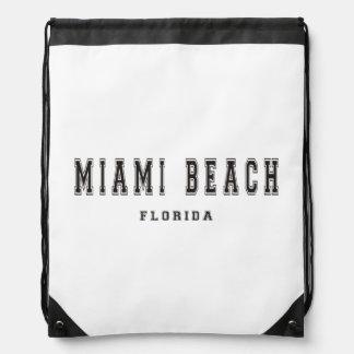 Miami Beach Florida Drawstring Bag