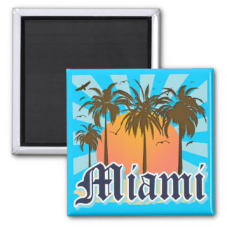 Miami Beach Florida FLA Square Magnet