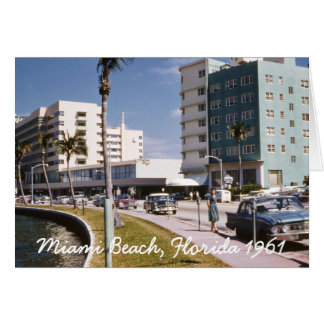 Miami Beach Florida Greeting Card