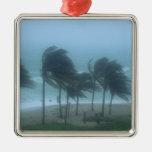 Miami Beach, Florida, hurricane winds lashing Christmas Ornament