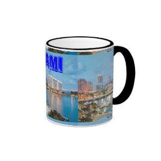 miami Beach, Florida Ringer Coffee Mug