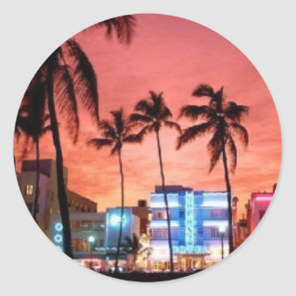 Miami Beach, Florida Round Sticker