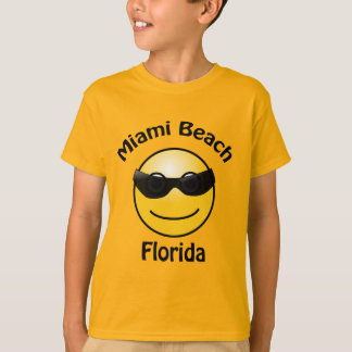 Miami Beach Florida Smilie Kids T-shirt