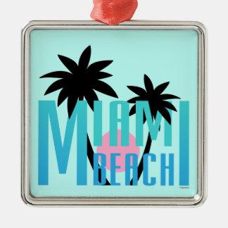 Miami-Beach-Florida-Typography Christmas Ornament