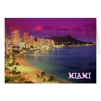 MIAMI BEACH Florida WISH YOU WERE HERE Greeting Cards
