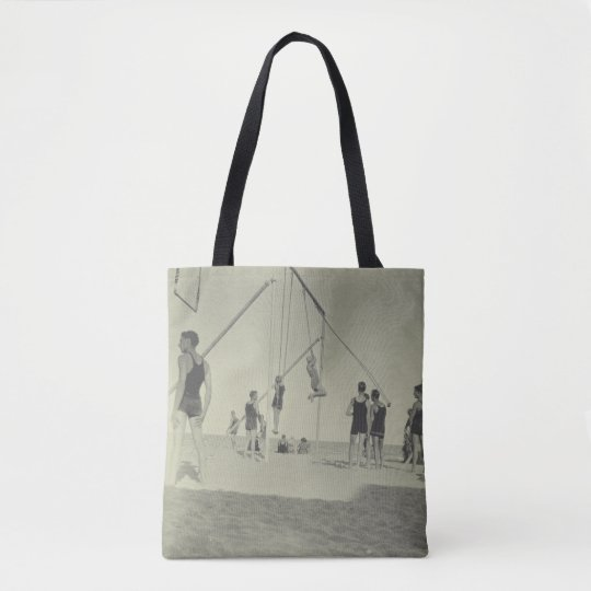 Miami Beach Gymnastics Vintage Photo Tote Bag