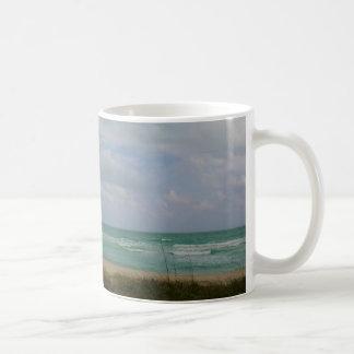 Miami Beach Hut Basic White Mug