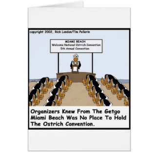 Miami Beach Ostrich Convention Funny Gifts & Tees Card