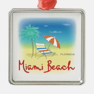 Miami Beach Palms Christmas Ornament