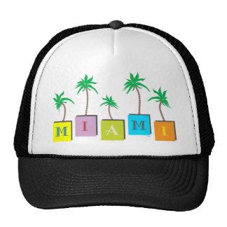 Miami Beach Palms Trucker Hat