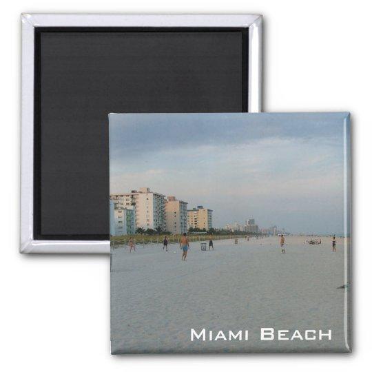 Miami Beach Square Magnet