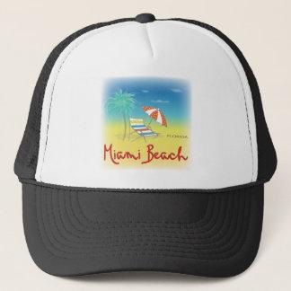 Miami Beach Sun Trucker Hat