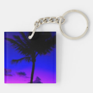 MIAMI BEACH SUNSET KEY RING