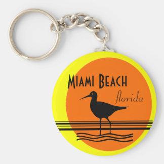 Miami Beach Sunset Souvenir Key Ring