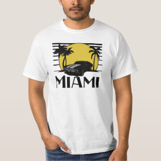 Miami Beach Sunset Surf Car T-shirt