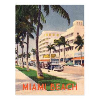 Miami Beach vintage travel style Postcard