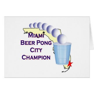 Miami Beer POng Champion Cards