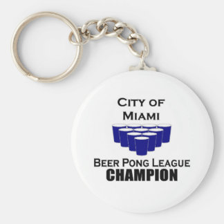 Miami Beer POng Champion Keychains