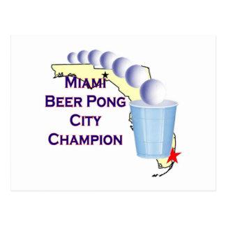 Miami Beer POng Champion Postcard