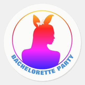 Miami Bunny Girl Bachelorette Party Classic Round Sticker