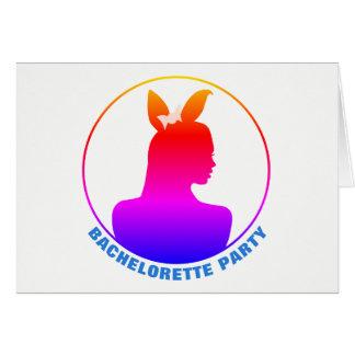 Miami Bunny Girl Bachelorette Party Invitation
