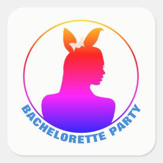 Miami Bunny Girl Bachelorette Party Square Sticker