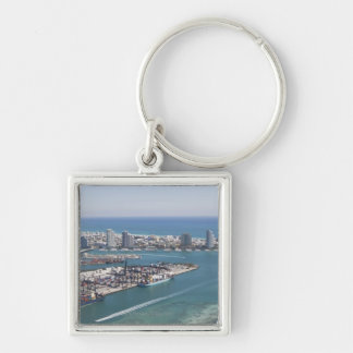 Miami Cityscape 2 Keychain
